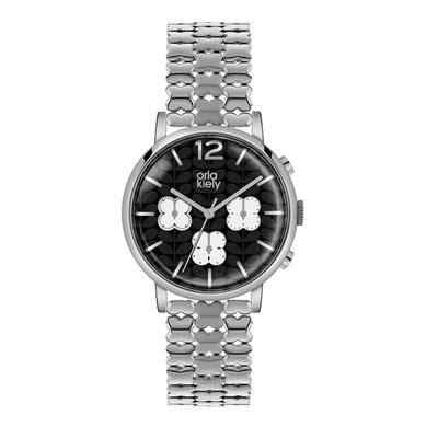 Buy Orla Kiely Orla Silver Chronograph Watch