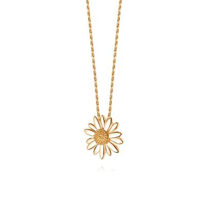 Buy Gold 18mm Daisy Vintage Necklace