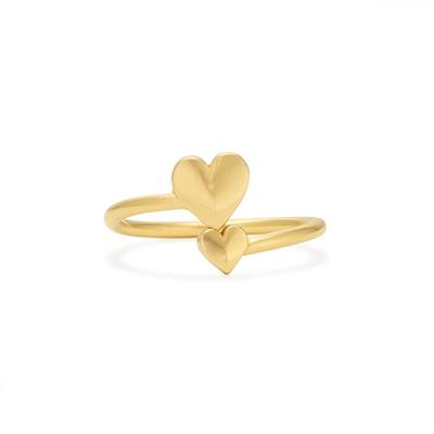 Buy Alex and Ani Romance Heart Ring Wrap in Gold