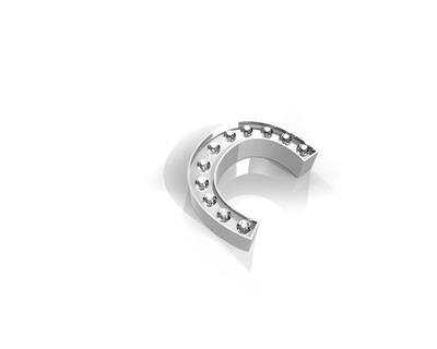 Buy Key Moments Silver Crystal Letter C
