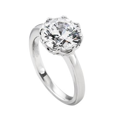 Buy Diamonfire 4.00ct Silver Claw Ring
