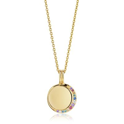 Buy Sif Jakobs Gold Portofino Pendant Necklace with Multicoloured CZ