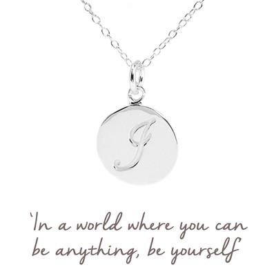Buy I Mantra Initial Necklace