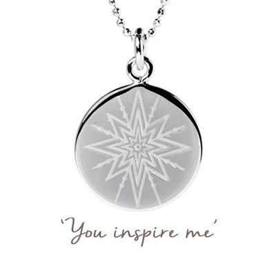 Buy Mantra You Inspire Me Disc Necklace in Sterling Silver