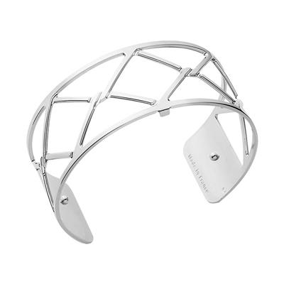 Buy Les Georgettes Medium Silver Cannage Cuff Bangle