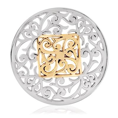 Buy Nikki Lissoni Silver Square Fantasy Coin 43mm