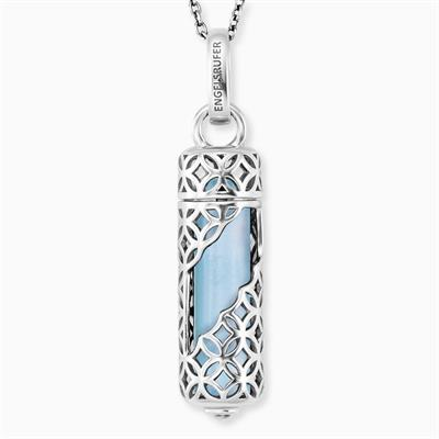 Buy Engelsrufer Silver Blue Agate 'Health & Balance' Power Stone Necklace