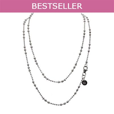 Buy Nikki Lissoni Silver 60cm Graduated Beads Chain