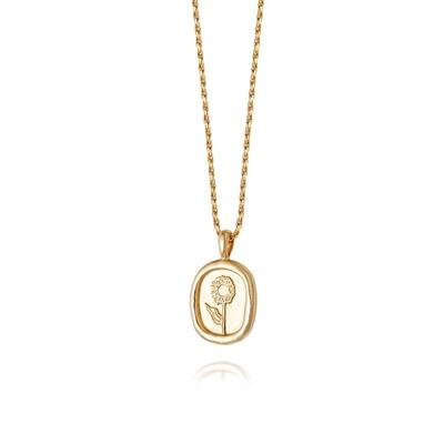 Buy Daisy Gold Sunflower Floriography Necklace