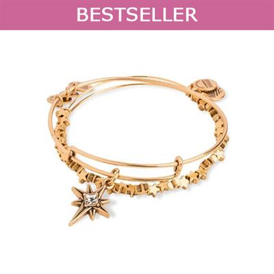 Buy Alex and Ani North Star Set of 2 bangles in Rafaelian Gold