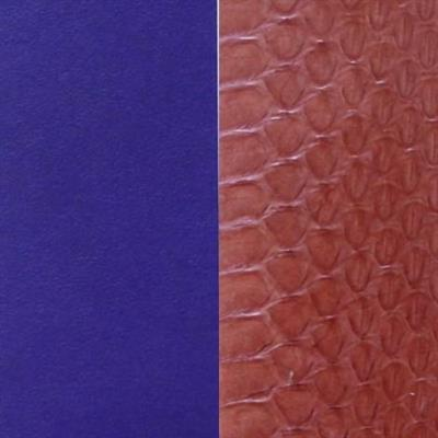 Buy Les Georgettes Wide Terracotta Watersnake / Purple Leather
