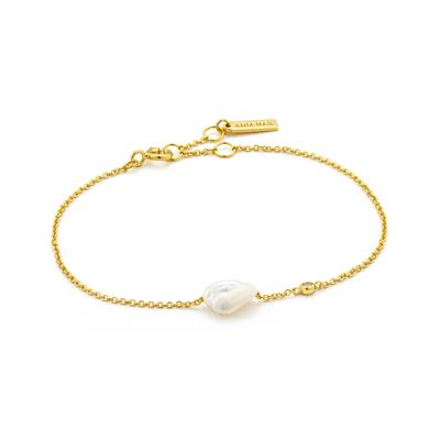 Buy Ania Haie Gold-plated Pearl Bracelet, Pearls of Wisdom