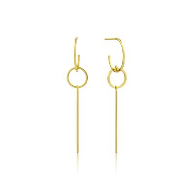 Buy Ania Haie Modern Minimalism Gold Drop Hoop Earrings