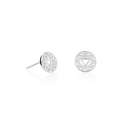 Buy Daisy Silver Solar Plexus Chakra Stud Earrings