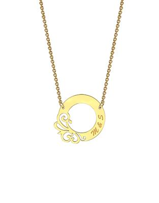 Buy me.mi Designer Circle Necklace in Yellow Gold