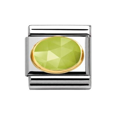 Buy Nomination Light Green Faceted Jade
