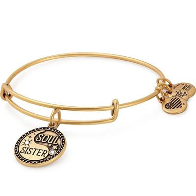 Buy Alex and Ani Soul Sister Bangle in Rafaelian Gold