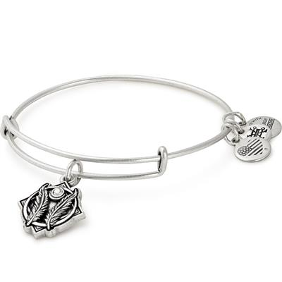 Buy Alex and Ani Godspeed Disc bangle in Rafaelian Silver Finish