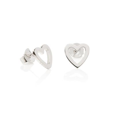 Buy Daisy Open Heart Good Karma Silver Stud Earrings