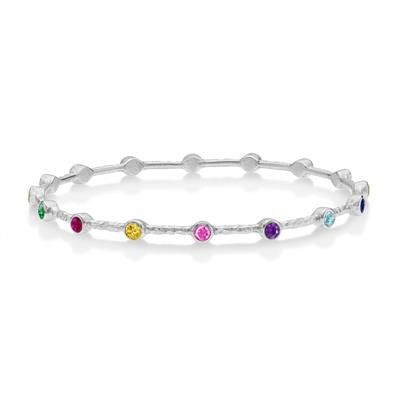 Buy Dower and Hall Silver Multi Colour CZ Bangle