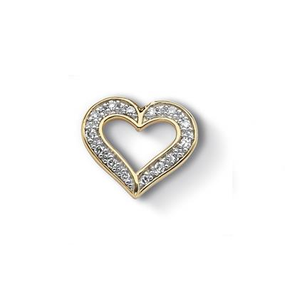 Buy Dower and Hall Gold Diamond Pave Heart Treasure