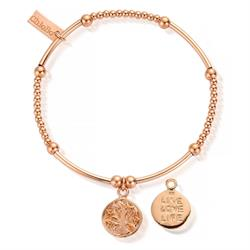 Cute Rose Gold Mini LiveLoveLife Bracelet