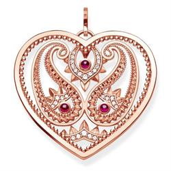 Rose Gold Paisley Heart