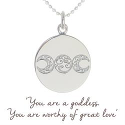 Mel Wells Goddess Disc Necklace in Sterling Silver