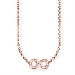 Rose Gold Plated Diamond Infinity Necklace 45cm