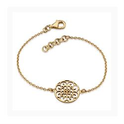 Filigree Disc Bracelet in Gold