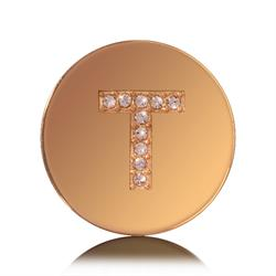 Letter T Small Gold Coin