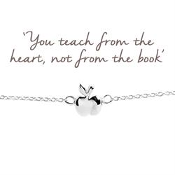 Buy Apple Mantra Bracelet in Silver