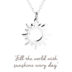 Sun Mantra Necklace in Silver