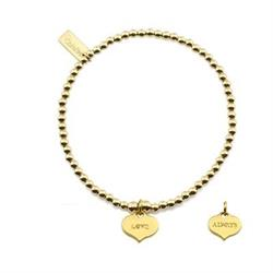 Gold Cute Love Always Bracelet