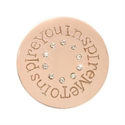 Rose Gold Inspire me to Inspire You Small Coin 23mm