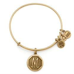 M Initial Bangle in Rafaelian Gold
