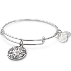Alex and Ani Healing Love Colour Infusion Bangle in Shiny Silver