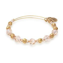 Blush Beaded Wrap Bangle in Shiny Gold