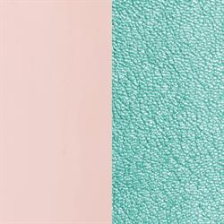 Wide Pink / Metallic Aqua Leather