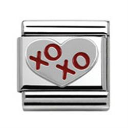 Red XOXO Heart Charm
