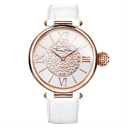 Buy Thomas Sabo Karma Watch White Leather Rose-Gold