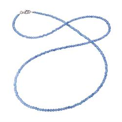 Blue Beaded 80cm Necklace