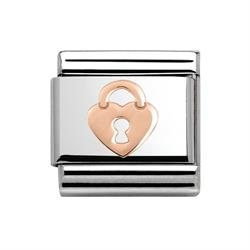 Rose Gold Heart Lock