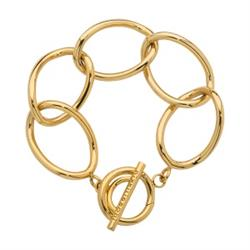 Gold Open Loop Bracelet 19cm
