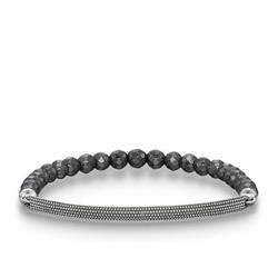 Love Bridge Silver Bobble Hematite Bracelet XLarge