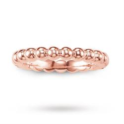 Bobble Ring Rose-Gold Plated Size 54