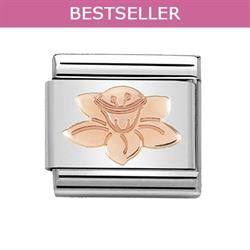 Rose Gold Daffodil Charm by Nomination