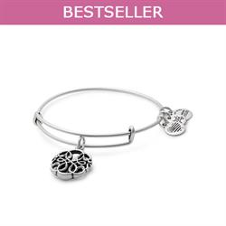Path of Life Disc bangle in Rafaelian Silver Finish