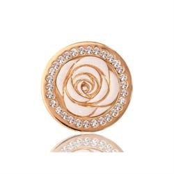 Vintage Rose Yellow Gold Coin 23.6mm