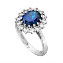 Royal Blue Princess Ring Size P